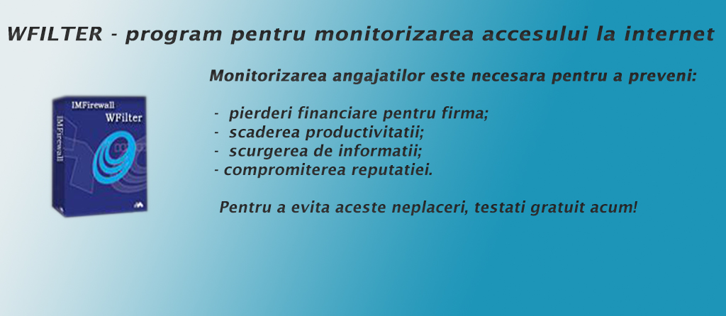 Program monitorizare internet